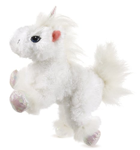 Lil' Kinz Unicorn little white unicorn Webkinz - 1