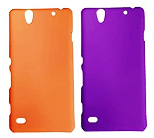 2 Pieces Winsome Deal Exclusive Hard Back Cover Case For Sony Xperia C4