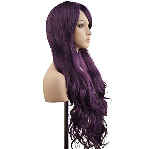 "Ambielly Wig 32""/ 80 centimetri lunga Parrucca riccia Capelli Womens Cosplay Mossi (Viola)"