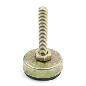 Uxcell Thread Pole Round Rubber Base Furniture Glides Leveling Foot M10x 50mm