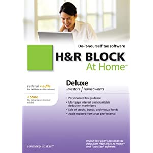 H&R Block At Home 2010 Deluxe Federal + State + eFile Download