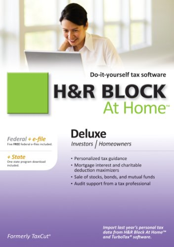 H&R Block At Home Deluxe Federal + State + eFile 2010 for Mac [Download]
