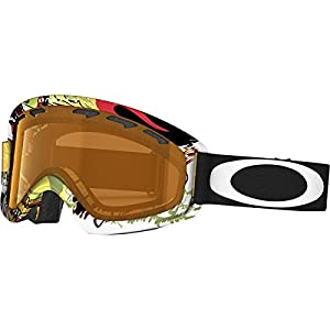 Oakley O2 XS Monster Ski Goggles, Mountain Red/Persimmon