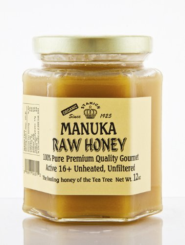 Stakich MANUKA HONEY 12-OZ ACTIVE 16+ - 100% Pure, Unheated, Unfiltered -