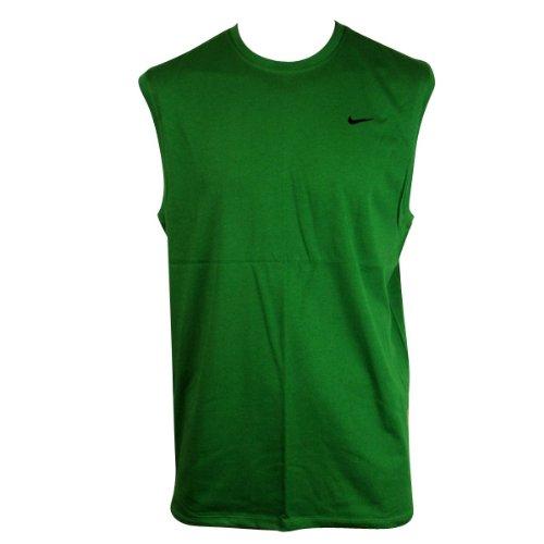 Mens Nike Green Dry Dri FIT Running Shirt Vest Top T-Shirt Gym Training Tee