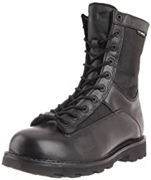 Bates Men\'s Defender 8 Inch Lace To Toe WP Waterproof Boot, Black, 7.5 M US