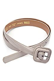 Rectangular Buckle Skinny Belt