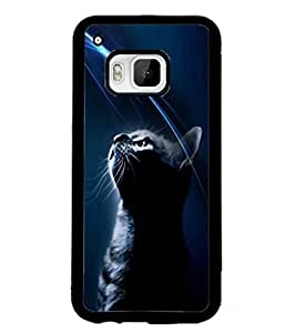PrintDhaba Cat D-4025 Back Case Cover for HTC ONE M9S (Multi-Coloured)