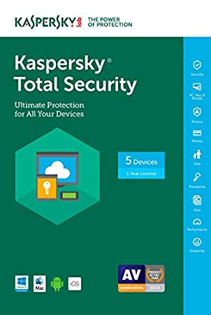 Kaspersky Total Security 2017 | 5 Device | 1 Year | Download