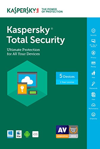 Kaspersky Total Security 2017 | 5 Device | 1 Year | Download (Device Software compare prices)