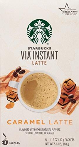 Starbucks VIA Instant Coffee, Caramel Latte, 5 ct (Starbucks Decaf Dark Roast K Cups compare prices)