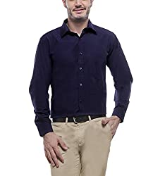 English Navy Men's Formal Shirt (2001Navy38_Blue_38)