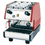 La Pavoni Commercial Espresso and Cappuccino Machine, 6-1/2 Liter Boiler, Red and Stainless Steel