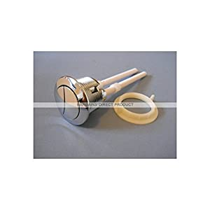 BARGAINS DIRECT NEW UNIVERSAL FIT CHROME SILVER DUAL FLUSH TOILET LOO LAVATORY PUSH RODS BUTTONS - FOR ARMITAGE SHANKS - TWYFORDS - IDEAL STANDARD - SIAMP - WIRQUIN - ROCA - VILLEROY & AND BOCH - GEBERIT - B&Q - FREE POSTAGE!