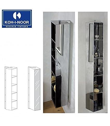 Koh-I-Noor 81000 Pensile Sospeso Girevole con Specchio 21 x 26, Cromo