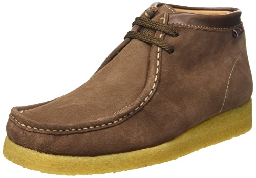 Sebago Koala Hi Scarpe Brogue Stringate, Unisex Adulto, Marrone (Suede Brown), 41