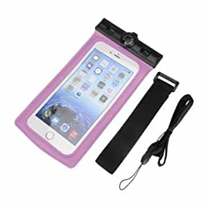 Waterproof Sealed Pouch Dry Bag Case With Thermometer Strap Arm Band For Mobile Phone-Pink