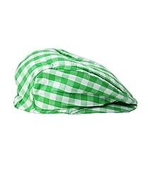 RuggedButts® Infant / Toddler Boys Green Gingham Drivers Cap - Green - 0-6m