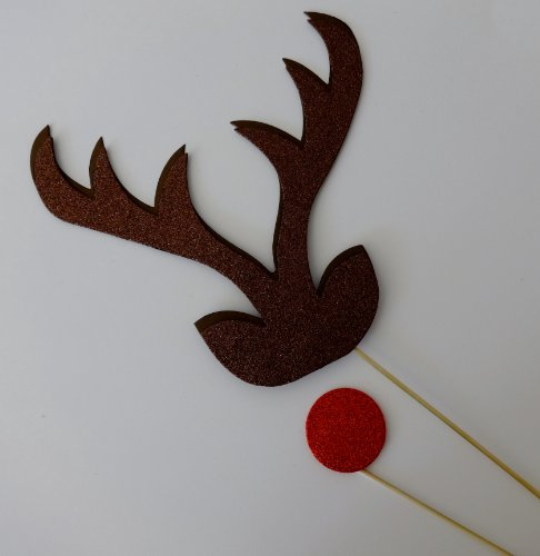 Christmas Photo Booth Props Reindeer Nose Santa Brigade Photo Booth Props xmas - 1