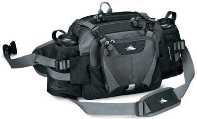 High Sierra Diplomat Lumbar Pack (Black, Tungsten) front-992631