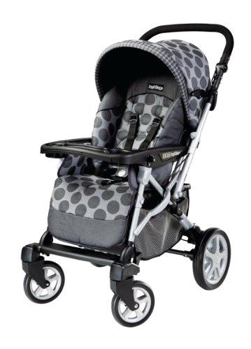 Peg Perego Uno Stroller, Pois Grey - 1