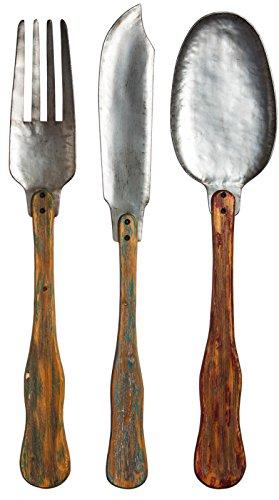 Knife, Fork, & Spoon Set of 3 Metal