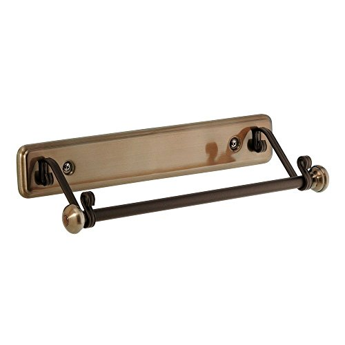 InterDesign York Lyra Paper Towel Holder for Kitchen - Wall Mount, Bronze