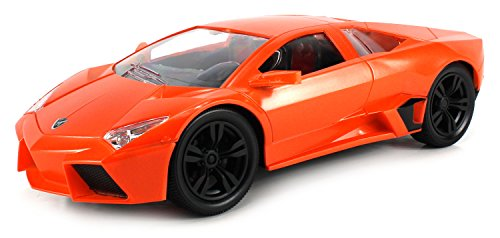 Stream Sport Lamborghini Reventon Electric Remote Control Rc Car 1:14 Scale Ready To Run Rtr W/ Bright Led Front & Rear Lights, Working Suspension, Rechargeable Battery (Colors May Vary)
