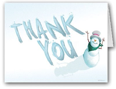 Snowman Thank You Note Card - 10 Boxed Cards