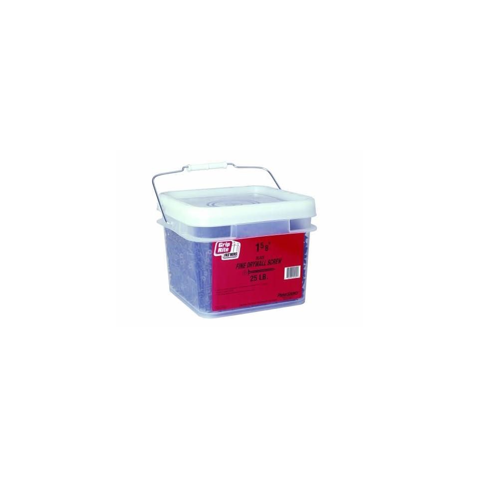 Grip-Rite 158DWS25BK 6-by-1-5//8-Inch Fine Thread Drywall Screws with Bugle Head Black 25-Pound Bucket