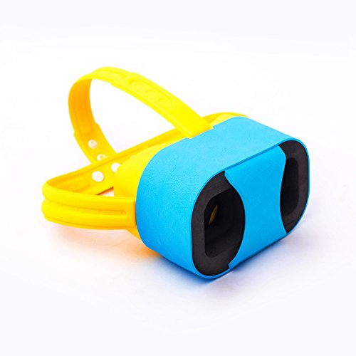 "OHPA V2 Childrens 3D Glasses Ultra light Headset DIY Virtual Reality 3D Video Games VR Glasses Cartoon Google Cardboard Kit for iPhone 6 6s Plus Samsung S6 S7 Edge and Other 4.7-5.5"" Smartphones, Blue"