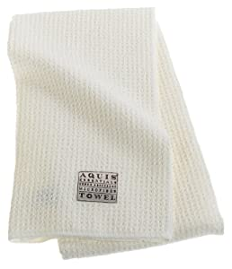 Aquis Microfiber Hair Towel, Waffle, White (19 x 39-Inches)