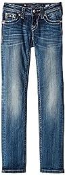 Miss Me Big Girls\' Skinny Jean, Medium Blue, 12