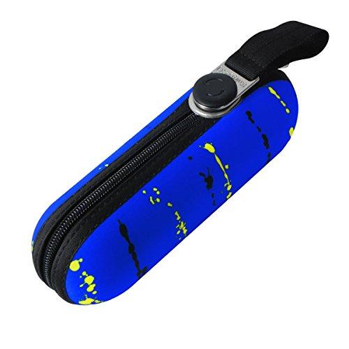 knirps-x1-umbrella-paint-stripes-mini-umbrella-bag-neon-blue