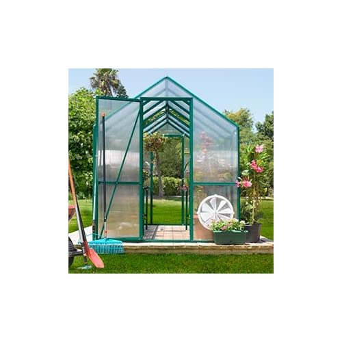 12' Kensington Greenhouse w/Front & Back Doors Aluminum Frame, Dark