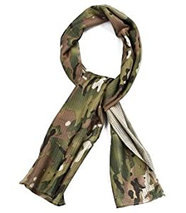Bluecell multi color head wear/ scarf for wargame,sports & other outdoor activities (Multi-cam) by Generic