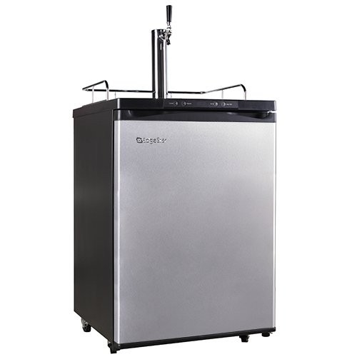 Cheapest Price! EdgeStar Full Size Kegerator with Digital Display - Black and Stainless Steel