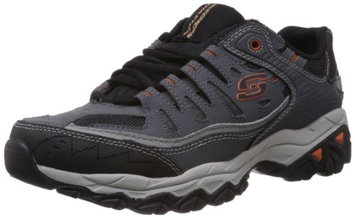 Skechers Sport Men's Afterburn Memory Foam Lace-Up Sneaker,Charcoal,9.5 4E US