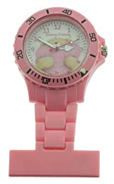 Forever Friends Women's Quartz Watch with Multicolour Dial Analogue Display and Pink Strap FFR73/A
