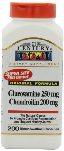 21St Century Glucosamine 250Mg And Chondroitin 200Mg Capsules, 200-Count