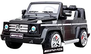 Charles Jacobs Mercedes Benz G55 AMG Ride-On Car for Kids, 12V Battery Powered (Black) with Remote - LICENCED DESIGN