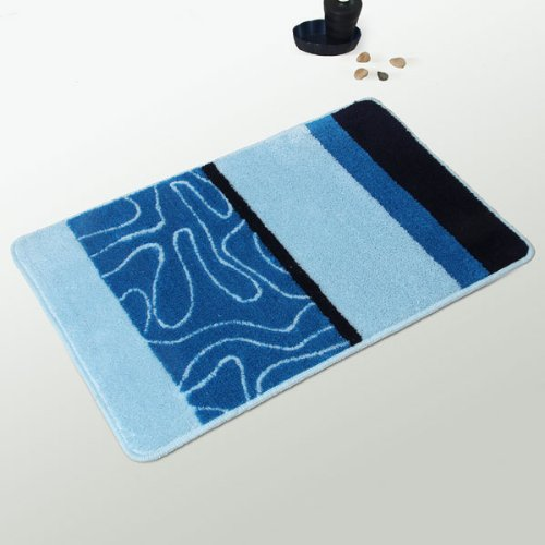 Naomi - [Elegant Blue] Luxury Home Rugs (17.7 by 25.6 inches)