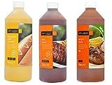 BBQ Combo Sauces Pack. Mustard, BBQ Sauce and Piri Piri Sauce 3 FOR 2