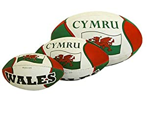 Welsh Hand Stitched Rugby Ball from MANAV (UK)