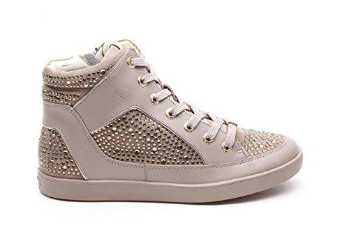 Liu Jo Stivaletto Donna Sneaker Aura Action Zip Leather Tortora_37