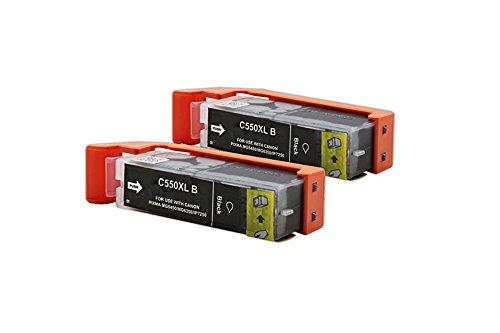 Kompatibel für Canon Pixma MG 5450 Tintenpatronen Sparset 6431B001 / PGI-550PGBKXL schwarz / 2 x 24 ml