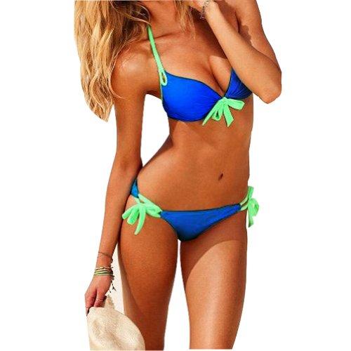 Ebuddy ® Women Drip Push up Bikini Set Bathing Suit Swimsuit Swimwear Beachwear image