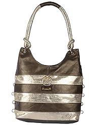 HANMAN Women's Handbags (Olive Green With Gold) (LHB-502)