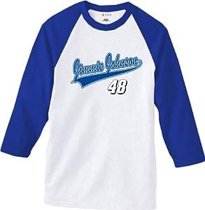 NASCAR Jimmie Johnson #48 Sports Tech White T-Shirt by Checkered Flag