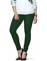 Devyansh Enterpriese Women's Cotton Leggings(DE008_Green_Free Size)
